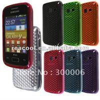 Diamond pattern TPU Soft Plastic Gel Case For Samsung Gaiaxy Y Duos S6102