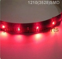 50pcs/lot 1210 3528 SMD waterproof flexible led strip 30cm 15 SMD LED strip daytime running light red  color 12V