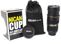 Best  selling 30PC/lot   The new nican 24-70mm stainless steel liner zoom lens Cup   wholesale   hot sell