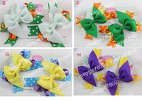Girls' Boutique hair bow handmade ribbon feathers hairbows hairband hairclip hair clip crochet headband H25