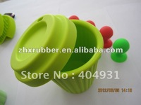 Eco-friendly Thermostable Green Silicone Water Cup
