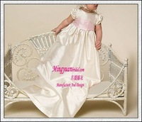 Modern ivory with sash on customer made infant dresses