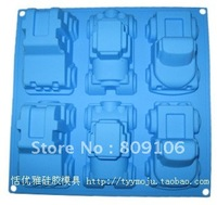 Wholesale ,Silicone 6 hole car Shapes Cake Mould chocolate mould Baking Cupcake Mold Pan ,free shipping