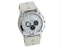 Fashion  Leather Strap Men Boys' Watch big quadrate dial wrist watch, free shipping