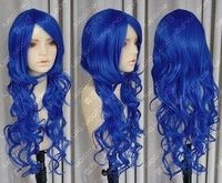 New beauty style royalblue curly integrity lady wig(same pictures)