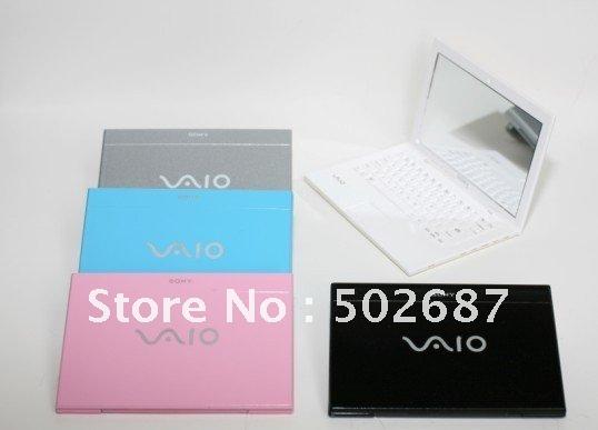 Wholesale 30pcs/lot-Creative Mirror Mini Pocket Sony VAIO Makeup Laptop Compact Mirro Cosmetic Bag free shipping(China (Mainland))