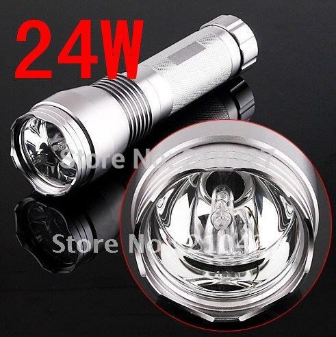 24W HID Flashlight 1400 lumens xenon light bulbs and stability accessories(China (Mainland))