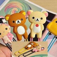 Free Shipping 5pcs/lot Fancy Cute Animal Bear Shaped Metal Binder Clips, Cartoon  Paper Clips, Paper/ Bag/ Memo/Notepaper Clip