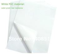 50 sheets White PVC material A4 blank waterproof label sticker printiing for laser printer