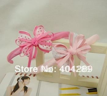 Free shipping!Wholesale 20pcs New Cute Kids/Children/Baby/Girl Ribbon HairBand/Headband/Hair Clips//Hair wear/Hair Accessories