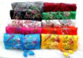 FREE SHIPPING! Lot 100pc EMBROIDERED BROCADE NEW SILK TRAVEL SILK JEWELRY ROLLS/bags & boxes Coin Purses Wallets
