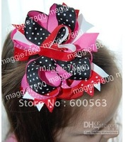 Girls' Boutique hair bow handmade ribbon feathers hairbows hairband hairclip hair clip crochet headband H50