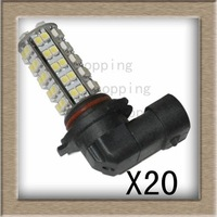 20pcs/lot 9006/HB4 BULBS SMT SMD 68-LED White Fog Light Bulb Lamps 12V New hot sale free shipping