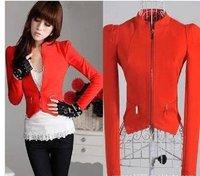 Free shiping 2013 New Promotion No Button suits for women,Fashion women's blazer 8511  4 colors,plu size