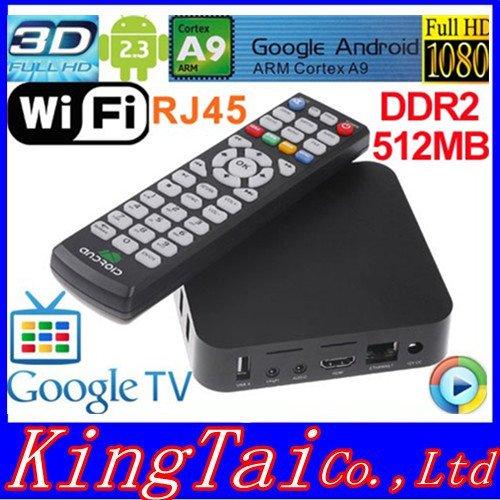Android 2.3 Google TV Box ARM Cortex A9 WiFi HD 1080P HDMI Internet TV