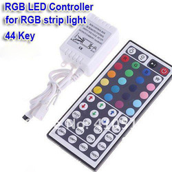 Free shipping 44 Keys LED Controller IR Remote controller GRB Port for RGB LED Strip Light 100% Guarantee(China (Mainland))