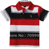Promotion Colorful Classic Children Boys Shirts Collar POLO shirt for age 2-7T   #LM1072