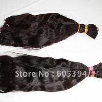 free shipping /human hair, Indian hair, Virgin Remy ,(100% brazilian human hair 1b# 450g/lot nature wave  bulk 22 inches)