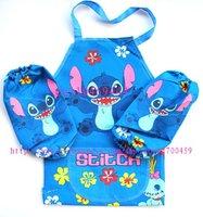 Wholesale- New 24 Set Children Lilo & Stitch  Aprons Sleeves Set  Free Shipping