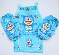 Wholesale- New 24 Set Children doraemon Aprons Sleeves Set  Free Shipping