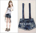 2013 new hot summer Fashion Cozy women clothes Piece shorts Strap worn flange Jeans jumpsuit Rompers Pants T-shirt