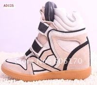Factory outlet Free shipping Isabel marant Women's genuine leather wedges casual shoes boots