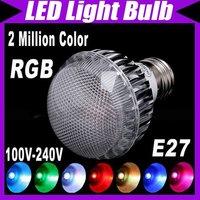 2 Million Color Changing RGB E27 8W LED Light Lamp Flash Bulb 110V-220V Remote Control #3106