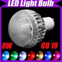 GU10 8W 410LM 110V-240V RGB LED Light Color Change Bulb Lamp+ Remote Control#3107