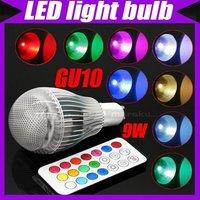 GU10 9W Color Changing LED Light Bulb RGB Color Bulb Lamp AC 100V-240V+Remote Control  2 Million Colors#3109