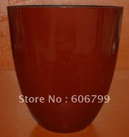 "wholesale 9""Vegetal FiberPlanter/red planter/ supplier from china/green garden planter(10pcs/ctn)/wood color planter"