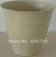 "wholesale12. 5""Vegetal FiberPlanter/white planter/ supplier from china/green garden planter(90pcs/ctn)/wood color planter"