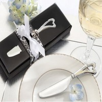 """Spread the Love"" Chrome Spreader with Heart-Shaped Handle+100sets/lot+FREE SHIPPING+Good for wedding favors"