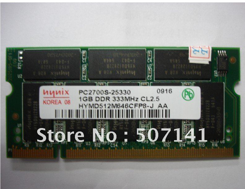 FREE SHIPPING +1GB PC2700 S DDR 333MHZ RAM Memory New for Dell Inspiron 1150 1200 2200 5150(China (Mainland))