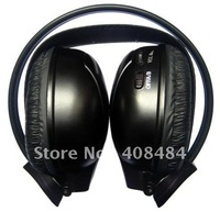 Stereo dual channel IR wireless headphone,car IR earphone,wireless headset for wholesale/lot+free shipping!