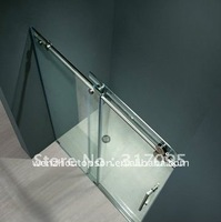 Flat sliding shower partition,shower door+free shipping