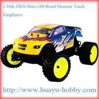 HSP nitro car 2.4G 94286 RTR 1/16th 4WD Nitro Off-Road Monster Truck _Kingliness