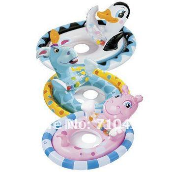 Free Shipping INTEX animal shape kids swim ring, inflatable Baby Kids Water Pool Swim Ring Seat Float Boat Swimming Aid Tube