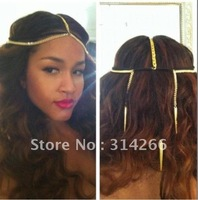 Golden Spike Chain Headpiece
