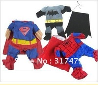 i pet i dog dress Dog clothes the dog model Superman Spiderman Batman w/cloak XS/S/M/L CPAM EMS ship