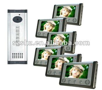 "7"" video door phone apartment building intercom system"