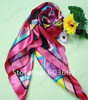 "Free shipping! 10pcs Fashion lady girl print silk square scarf shawl Xmas Gift Fall Autumn Winter Spring 35.4""x35.4""inch"