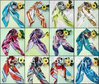 "Free shipping! 20pcs Fashion lady girl print silk square scarf shawl Xmas Gift Fall Autumn Winter Spring 35.4""x35.4""inch"
