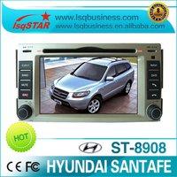 2 Din 6.2 Hyundai Santafe car dvd player with DVD/CD/MP3/Mp4/Bluetooth/IPOD/Radio/TV/GPS/TV antenna, rear camera and ISDB-T box