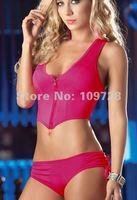 Женское эротическое боди Black Sexy Zipper Milk Silk Teddies lingerie Lady Underwear #1209