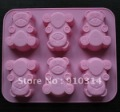 6-cute bear  Mold Silicone Cake Mold Muffin Cupcake Chocolate Craft Candy Baking