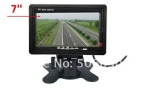 "7"" TFT LCD Color Car Rearview Headrest Monitor DVD VCR,free shipping"