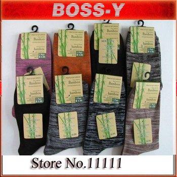 Bamboo fiber men's socks mix colors ,45 paris / lot