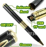 Free shipping, Mini Pen Dvr Pen Camera 1280 x 960 High Resolution with 8GB memory card without  retail box