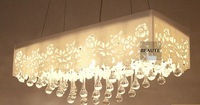 Free Shipping! E27 40W*6 wholesale price modern home dinning room decoration best K9 crystal chandelier light