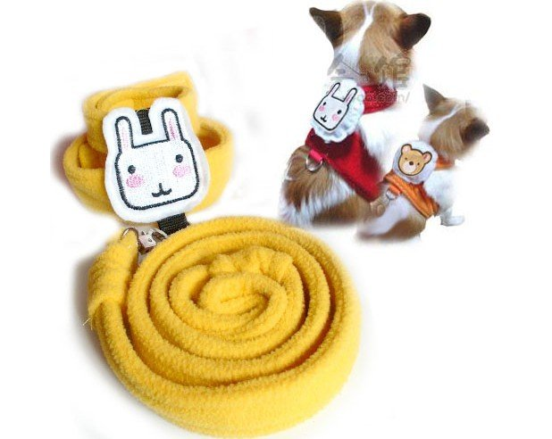 Lovely animal model cat harness and leash.free shipping!pet Collars and Leads.pet,cat,dog products.5pcs/lot(China (Mainland))